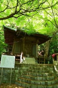 琉球使節の書いた寺額のかかった観音堂