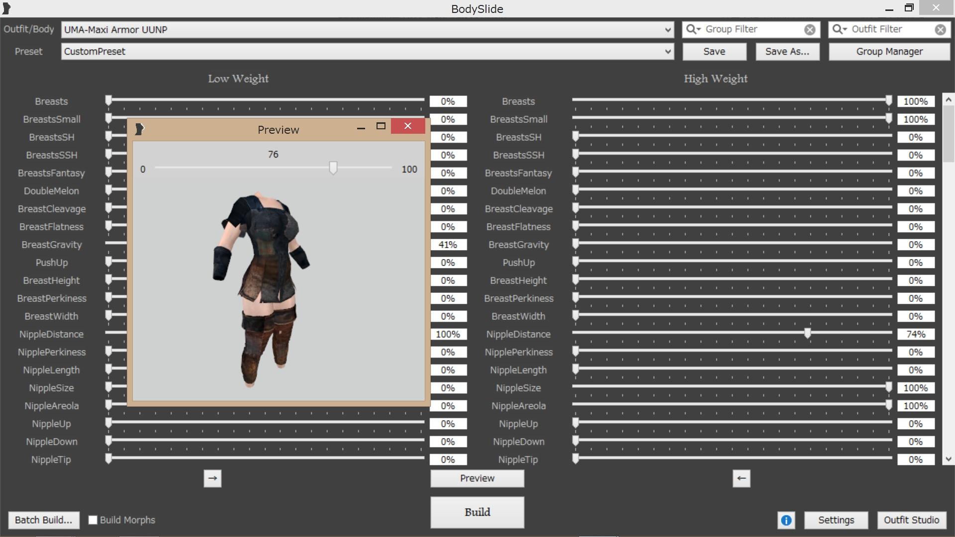 神ツールBodySlide and Outfit Studio - MOD