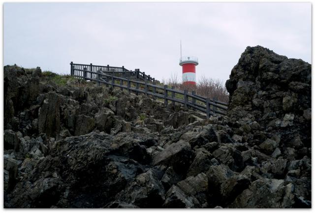 青森県 今別町 高野崎海岸 高野崎灯台 潮騒橋と渚橋 観光 写真