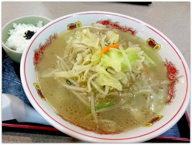 青森県 弘前市 ワンコインランチ ラーメン ランチ グルメ らーめん亭 野菜らーめん 半ライス セット 写真
