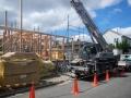 ポタジェのある大屋根の家建て方開始