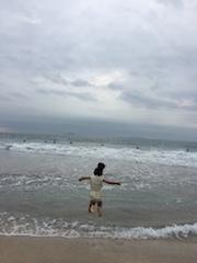 朝のビーチ散歩2