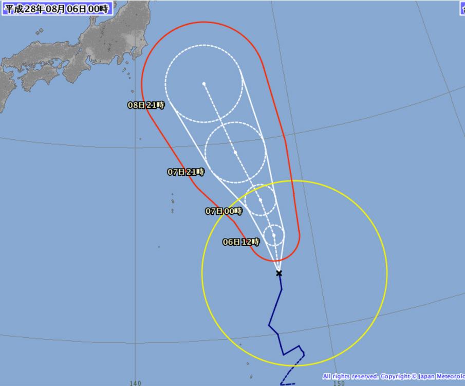 台風5号2016-08-06-1
