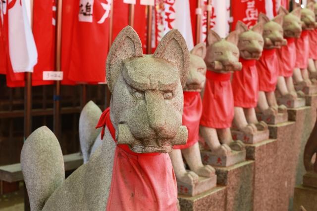 豊川稲荷別院の お狐さん