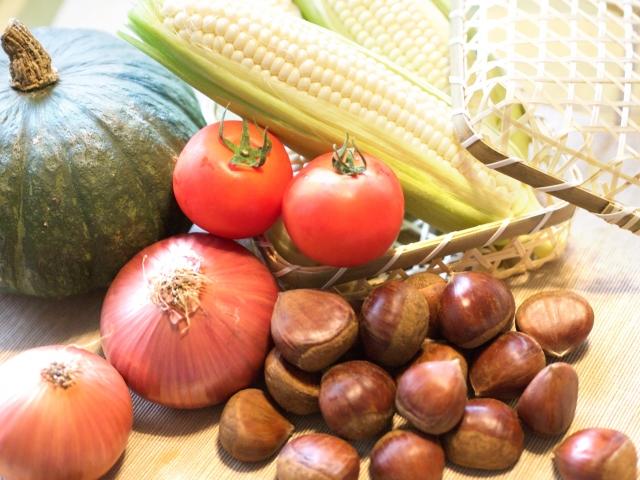 秋の 収穫野菜