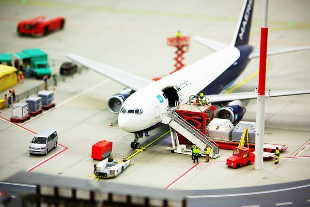 空港 飛行機 乗降