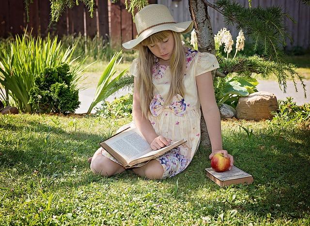 本を読む 文学少女