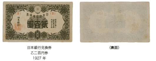 裏白二百円札