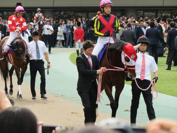 福永騎手と川須騎手。