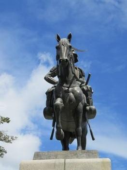 お馬の正面。