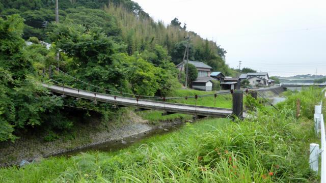 相賀谷川の吊橋1