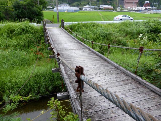 相賀谷川の吊橋0