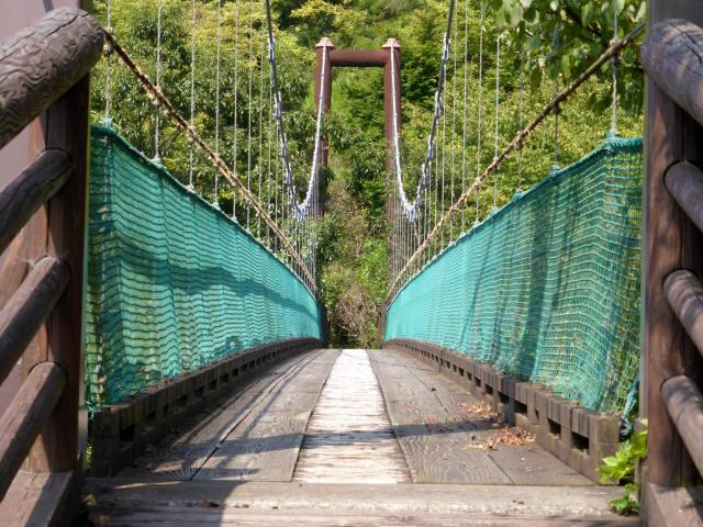 平成森林公園の吊橋6