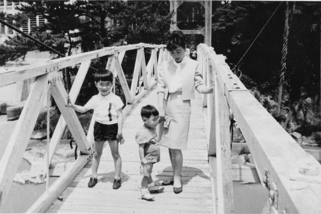 勘八峡の吊橋