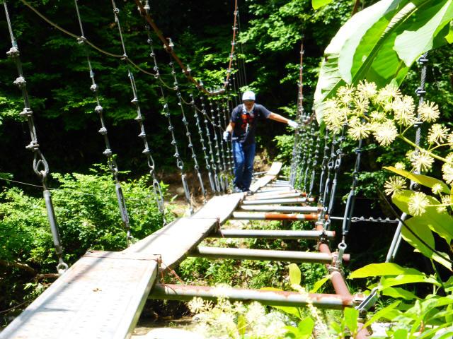 大石吊橋9