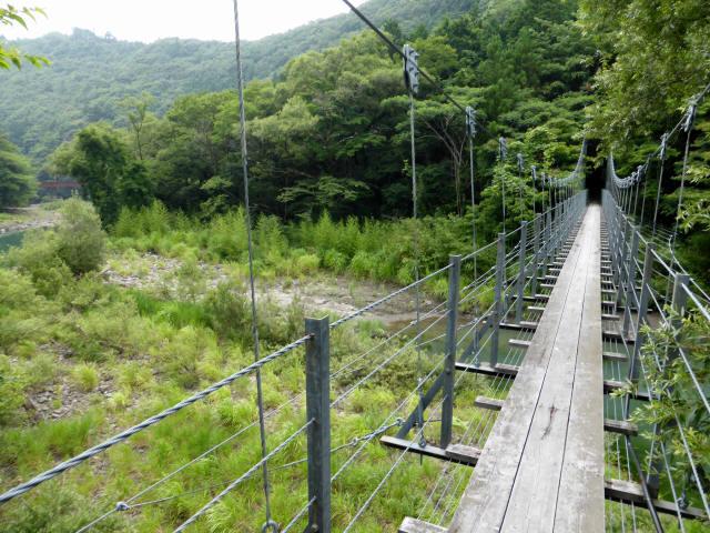 笹間渡の吊橋1