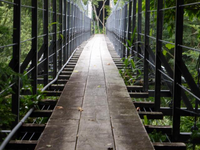 笹間渡の吊橋9