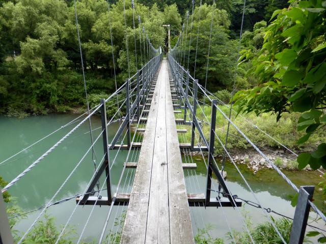 笹間渡の吊橋0