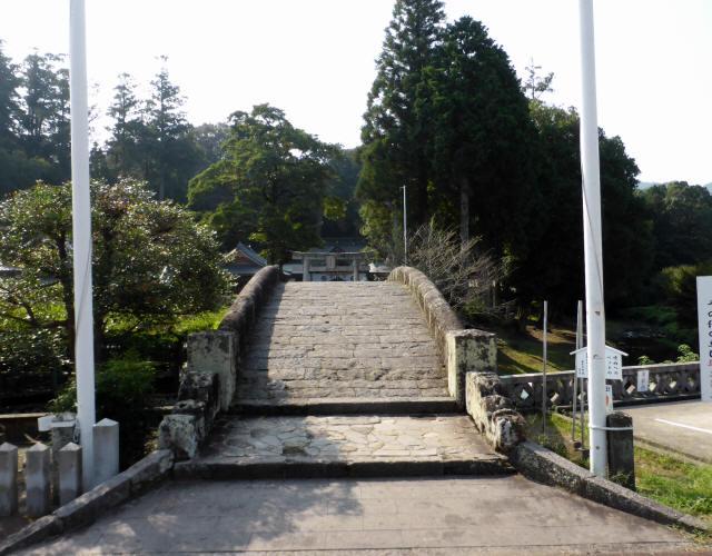西寒田神社萬年橋1