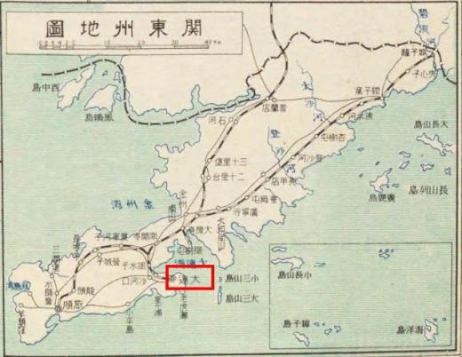 関東州地図_大連_北満洲概観1