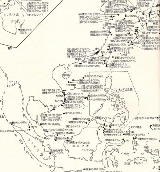 米軍による日本船舶撃沈図