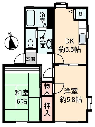 ■物件番号4439 海側で格安2DK入荷!日当り最高!独立洗面!駐車場有!6万円!!!