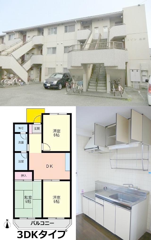 ■物件番号4500 憧れの東海岸南2丁目!駅も海も徒歩圏!格安レトロマンション3DK!6.5万円!