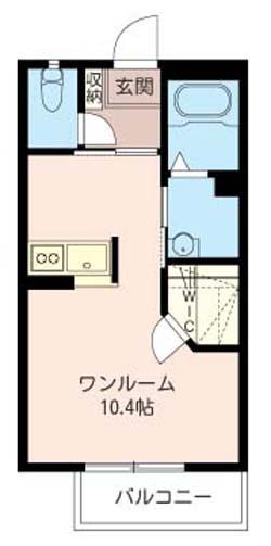 ■物件番号4503 辻堂海側!駅7分!広ーい10.4帖+ウォークインクローゼット!6.4万円!
