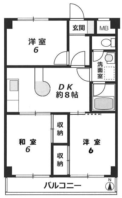 ■物件番号4508 海3分!ペット可マンション!3DKタイプ!新品システムキッチン!8.7万円!