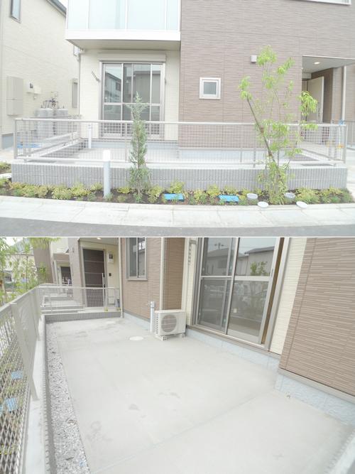■人気の専用庭付物件です!!コンクリートの庭なので雑草抜きなどの手間がかからず楽々です!!