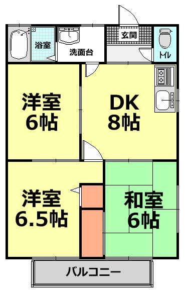 ■物件番号4593 辻堂の海近く3DKファミリー!海10分!海浜公園10分!格安7.5万円!都市ガス!
