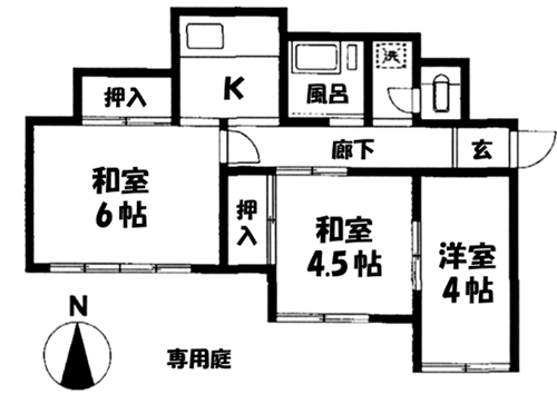 ■物件番号4600 昭和レトロ平屋!3Kタイプ!格安6万円!P1台付!庭有り!ひばりが丘!1人暮らしOK!