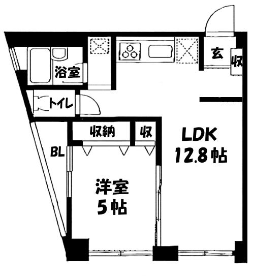 ■物件番号4639 人気の海側!駅5分!室内フルリフォーム済1LDKマンション!最上階カド!7.7万円!!