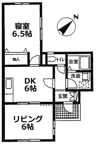 ■物件番号4646 海側!お手頃2DKマンション入荷!家賃7万円!1階カド部屋!人気の都市ガス!