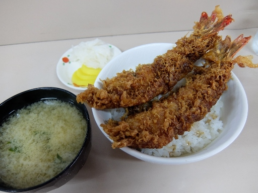 ジャンボ海老天丼