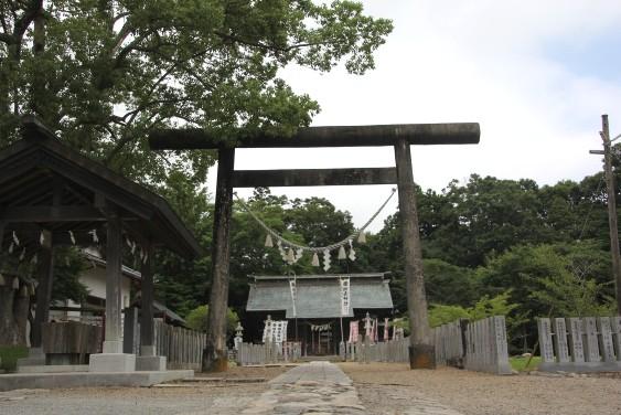 本丸跡に建つ相馬神社