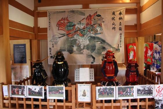 城内の甲冑展示