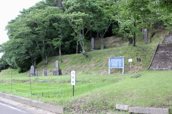 孝子堂周辺と八枚田