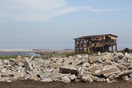 津波影響を受けた浪江町海岸地区