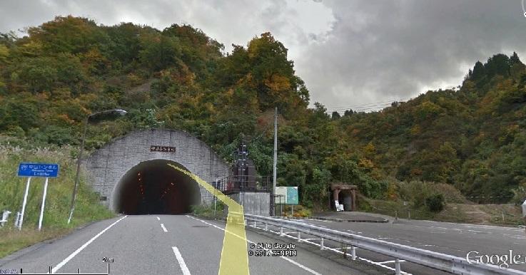 2016-7-26山古志村の新旧中山隧道