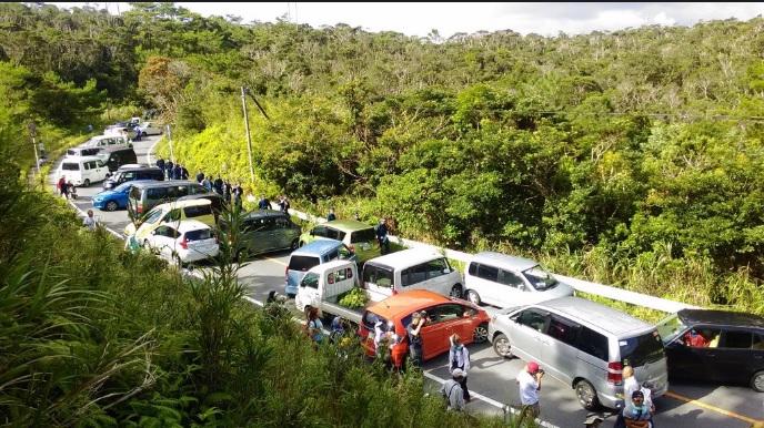 2016-9-18沖縄高江も道路封鎖状況