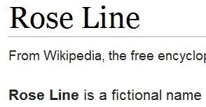 wikiRose Line