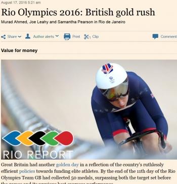 newsRio Olympics 2016 British gold rush