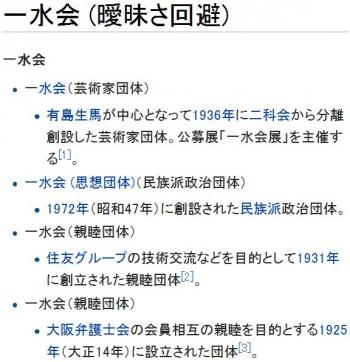 wiki一水会 (曖昧さ回避)