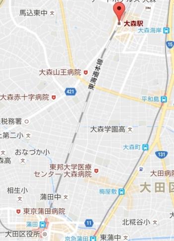 map大森駅