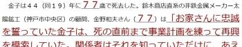 ten鈴木商店、登記上は現存 恐慌で破綻も清算終えず