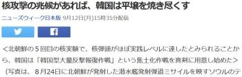 news核攻撃の兆候があれば、韓国は平壌を焼き尽くす