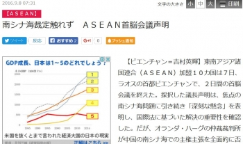 news南シナ海裁定触れず ASEAN首脳会議声明