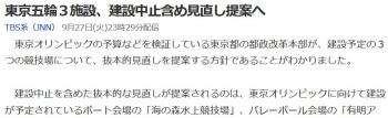 news東京五輪3施設、建設中止含め見直し提案へ
