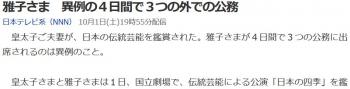 news雅子さま 異例の4日間で3つの外での公務